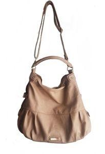 Steve Madden tan purse gold chain detail